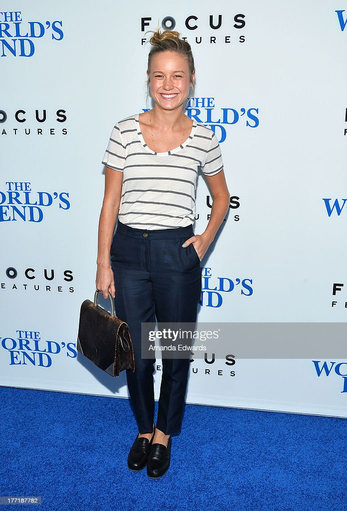 Actress Brie Larson arrives at the Los Angeles premiere of 'The World's End' at ArcLight Cinemas Cinerama Dome on August 21, 2013 in Hollywood, California.