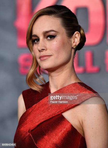 Actress Brie Larson arrives at the Premiere of Warner Bros Pictures' 'Kong Skull Island' at Dolby Theatre on March 8 2017 in Hollywood California
