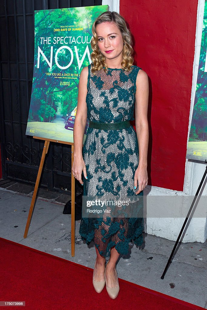 Actress <a gi-track='captionPersonalityLinkClicked' href=/galleries/search?phrase=Brie+Larson&family=editorial&specificpeople=171226 ng-click='$event.stopPropagation()'>Brie Larson</a> arrives at 'The Spectacular Now' - Los Angeles Special Screening at the Vista Theatre on July 30, 2013 in Los Angeles, California.