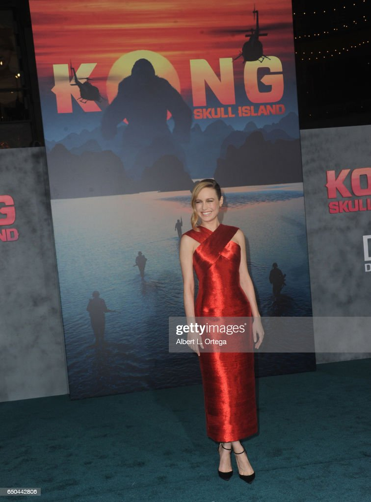 Actress Brie Larson arrives for the Premiere Of Warner Bros. Pictures' 'Kong: Skull Island' held at Dolby Theatre on March 8, 2017 in Hollywood, California.