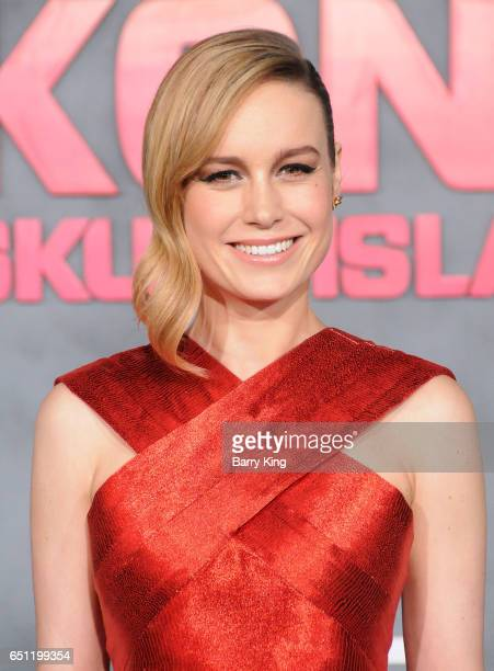 Actress Brie Larson arrives for the Premiere of Warner Bros Pictures' 'Kong Skull Island' at Dolby Theatre on March 8 2017 in Hollywood California