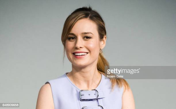 Actress Brie Larson attends a panel during the 'Kong Skull Island' cast presentation at Apple Store Soho on March 6 2017 in New York City