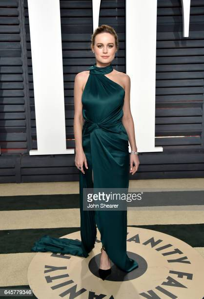 Actress Brie Larson attends the 2017 Vanity Fair Oscar Party hosted by Graydon Carter at Wallis Annenberg Center for the Performing Arts on February...