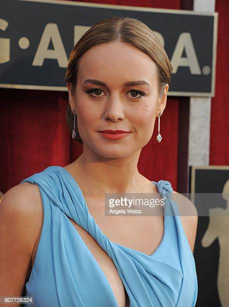 Actress Brie Larson attends the 22nd Annual Screen Actors Guild Awards at The Shrine Auditorium on January 30 2016 in Los Angeles California