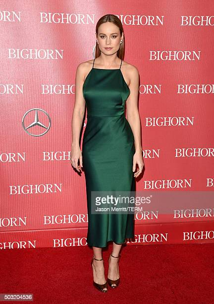 Actress Brie Larson attends the 27th Annual Palm Springs International Film Festival Awards Gala at Palm Springs Convention Center on January 2 2016...