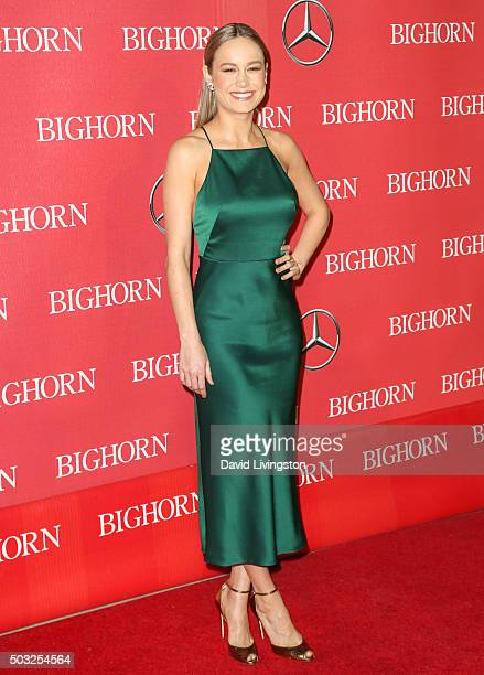 Actress Brie Larson attends the 27th Annual Palm Springs International Film Festival Awards Gala at the Palm Springs Convention Center on January 2...