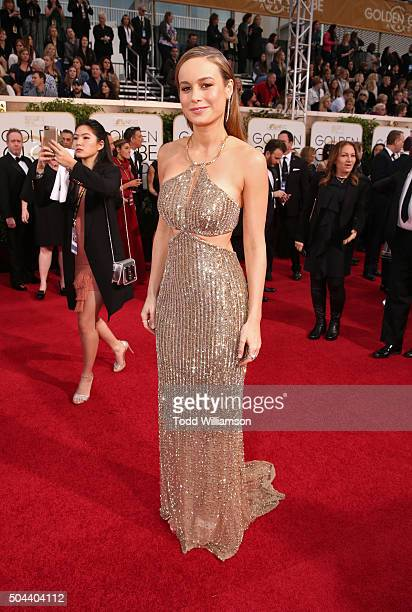 Actress Brie Larson attends the 73rd Annual Golden Globe Awards at The Beverly Hilton Hotel on January 10 2016 in Beverly Hills California