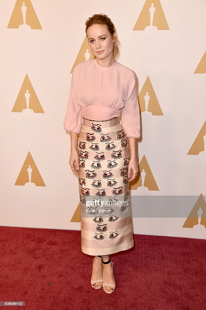 Actress Brie Larson attends the 88th Annual Academy Awards nominee luncheon on February 8 2016 in Beverly Hills California