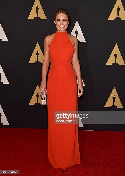 Actress Brie Larson attends the Academy of Motion Picture Arts and Sciences' 7th annual Governors Awards at The Ray Dolby Ballroom at Hollywood...