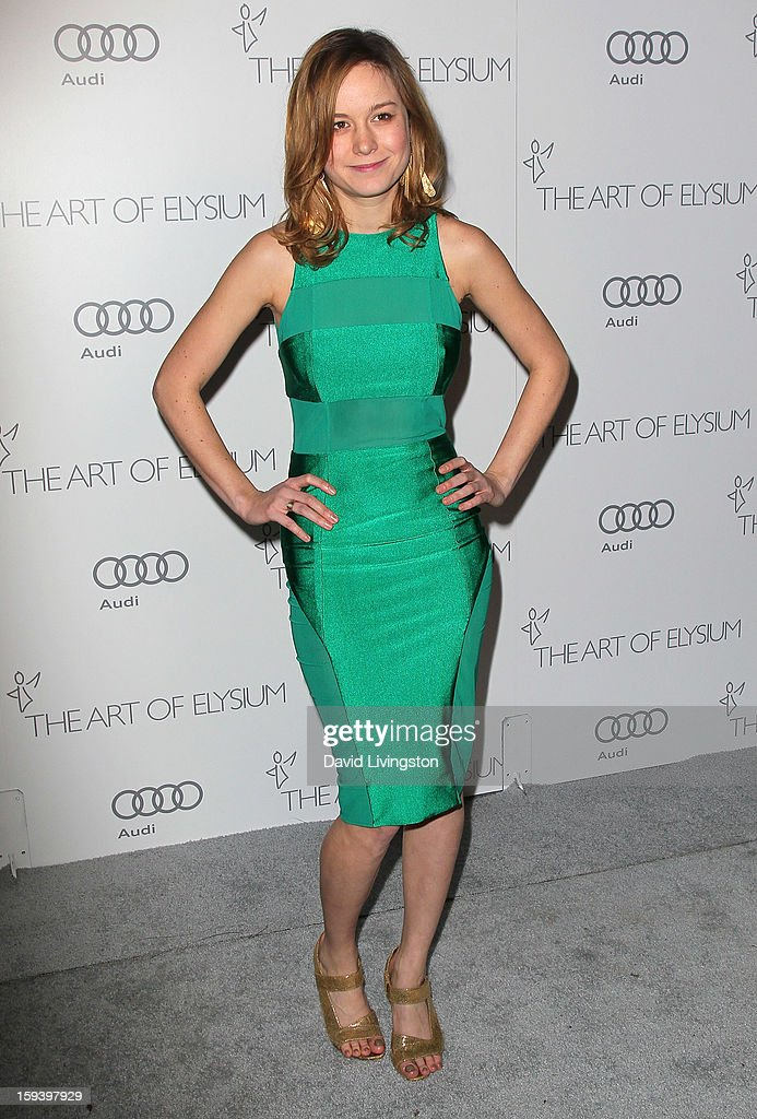 Actress Brie Larson attends the Art of Elysium's 6th Annual Black-tie Gala 'Heaven' at 2nd Street Tunnel on January 12, 2013 in Los Angeles, California.