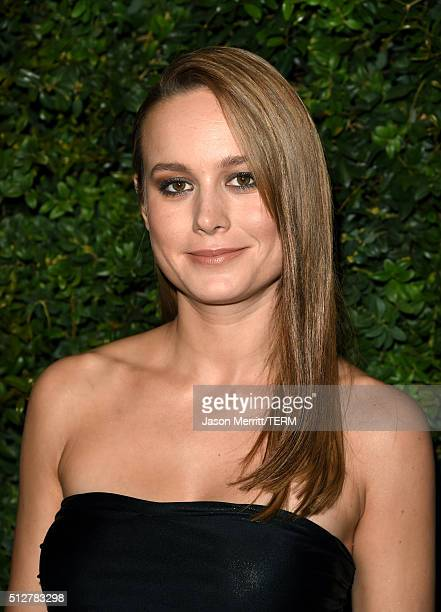 Actress Brie Larson attends the Charles Finch and Chanel PreOscar Awards Dinner at Madeo Restaurant on February 27 2016 in Los Angeles California
