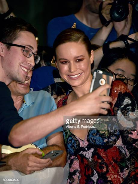 Actress Brie Larson attends the 'Free Fire' premiere during the 2016 Toronto International Film Festival at Ryerson Theatre on September 8 2016 in...