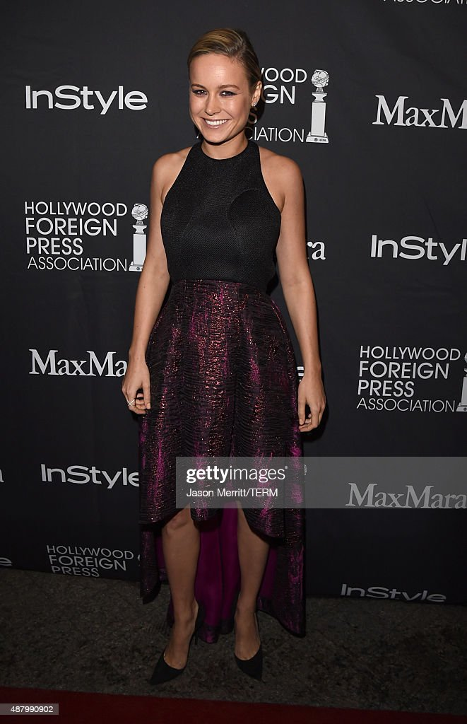 Actress Brie Larson attends the InStyle & HFPA party during the 2015 Toronto International Film Festival at the Windsor Arms Hotel on September 12, 2015 in Toronto, Canada.