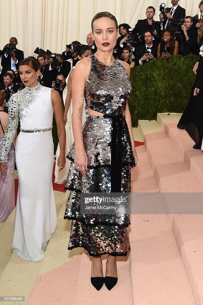 Actress Brie Larson attends the 'Manus x Machina: Fashion In An Age Of Technology' Costume Institute Gala at Metropolitan Museum of Art on May 2, 2016 in New York City.