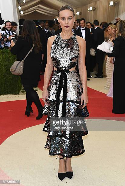 Actress Brie Larson attends the 'Manus x Machina Fashion In An Age Of Technology' Costume Institute Gala at Metropolitan Museum of Art on May 2 2016...