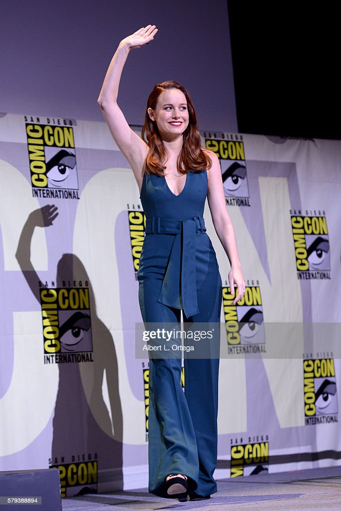 Actress Brie Larson attends the Marvel Studios presentation during ComicCon International 2016 at San Diego Convention Center on July 23 2016 in San...