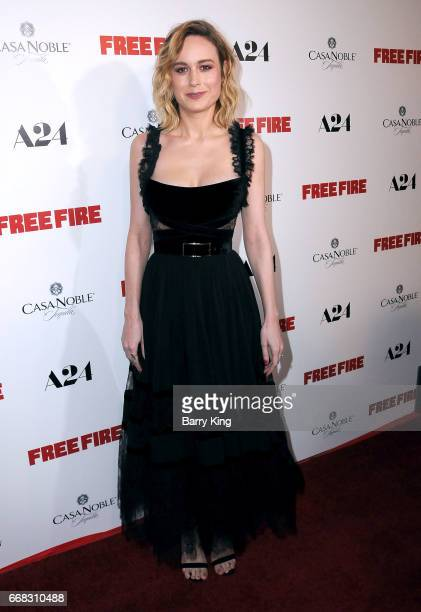 Actress Brie Larson attends the premiere of A24's' 'Free Fire' at ArcLight Hollywood on April 13 2017 in Hollywood California