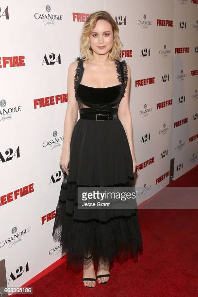 Actress Brie Larson attends the premiere of A24's 'Free Fire' at ArcLight Hollywood on April 13 2017 in Hollywood California