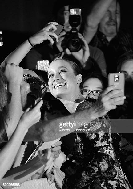 Actress Brie Larson attends the premiere of 'Free Fire' at The Ryerson Theatre on September 8 2016 in Toronto Canada