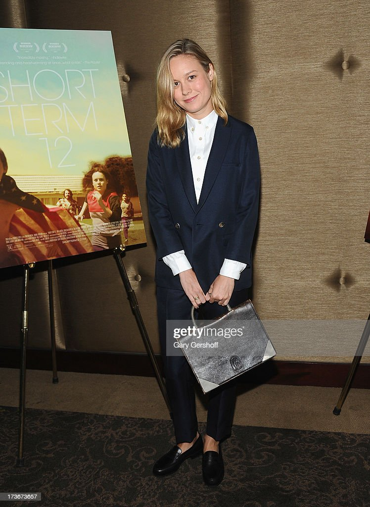 Actress <a gi-track='captionPersonalityLinkClicked' href=/galleries/search?phrase=Brie+Larson&family=editorial&specificpeople=171226 ng-click='$event.stopPropagation()'>Brie Larson</a> attends the 'Short Term 12' New York Special Screening at Dolby 88 Theater on July 16, 2013 in New York City.