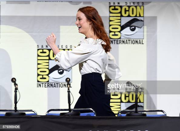 Actress Brie Larson attends the Warner Bros Presentation during ComicCon International 2016 at San Diego Convention Center on July 23 2016 in San...
