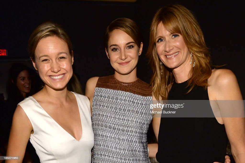 Actress <a gi-track='captionPersonalityLinkClicked' href=/galleries/search?phrase=Brie+Larson&family=editorial&specificpeople=171226 ng-click='$event.stopPropagation()'>Brie Larson</a>, honoree <a gi-track='captionPersonalityLinkClicked' href=/galleries/search?phrase=Shailene+Woodley&family=editorial&specificpeople=676833 ng-click='$event.stopPropagation()'>Shailene Woodley</a> and actress <a gi-track='captionPersonalityLinkClicked' href=/galleries/search?phrase=Laura+Dern&family=editorial&specificpeople=204203 ng-click='$event.stopPropagation()'>Laura Dern</a> attend ELLE's 20th Annual Women In Hollywood Celebration at Four Seasons Hotel Los Angeles at Beverly Hills on October 21, 2013 in Beverly Hills, California.