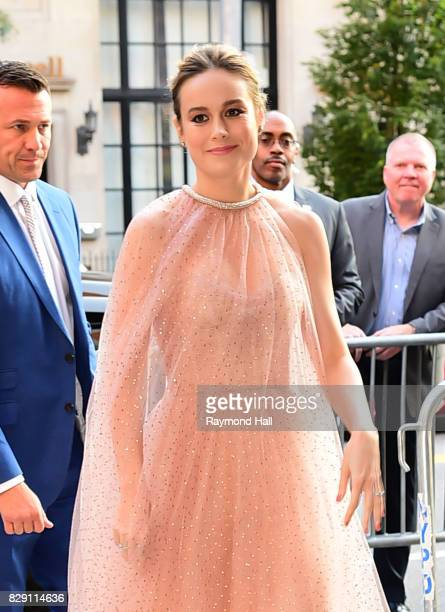 Actress Brie Larson is seen walking in Midtown on August 9 2017 in New York City