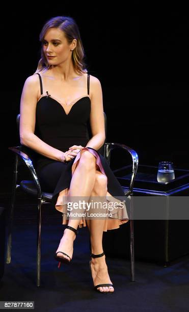 Actress Brie Larson takes part in the TimesTalks Series presentation of 'The Glass Castle' at Florence Gould Hall on August 8 2017 in New York City