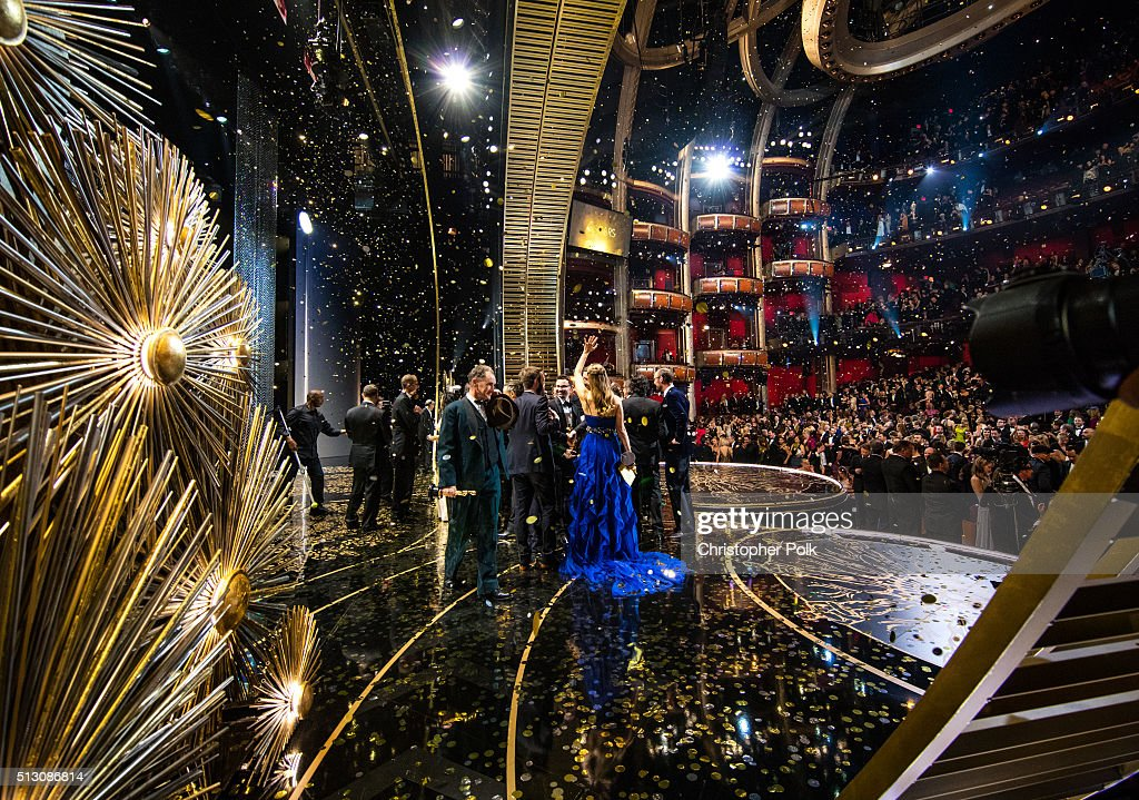 Actress Brie Larson winner of Best Actress award for 'Room' attends the 88th Annual Academy Awards at Dolby Theatre on February 28 2016 in Hollywood...
