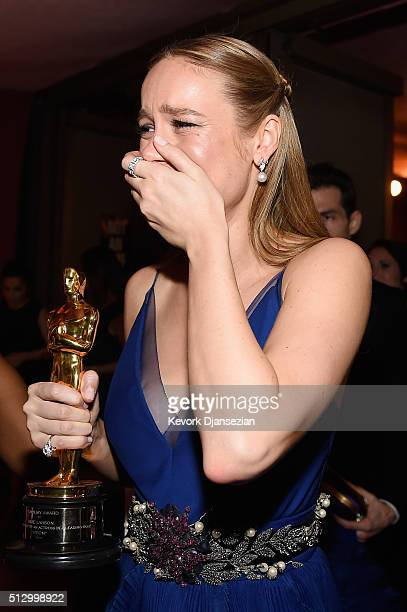 Actress Brie Larson winner of Best Actress for 'Room' attends the 88th Annual Academy Awards Governors Ball at Hollywood Highland Center on February...