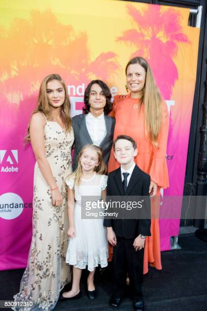 Actress Brighton Sharbino Actor Rio Mangini Actress Kingston Foster Actor Jason Maybaum and Director/Writer/Actress Marianna Palka arrive for the...
