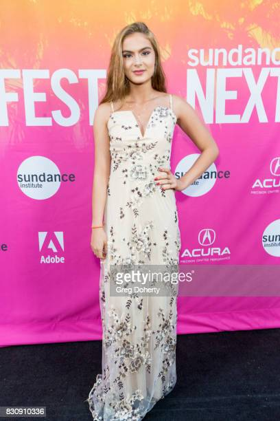 Actress Brighton Sharbino arrives for the 2017 Sundance NEXT FEST at The Theater at The Ace Hotel on August 12 2017 in Los Angeles California