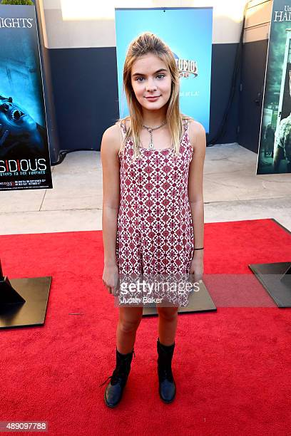 Actress Brighton Sharbino attend sUniversal Studios Hollywood's opening night celebration of 'Halloween Horror Nights' at Universal Studios Hollywood...