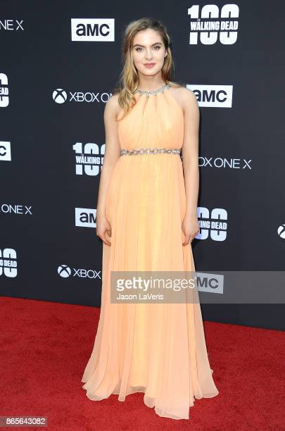 Actress Brighton Sharbino attends the 100th episode celebration off 'The Walking Dead' at The Greek Theatre on October 22 2017 in Los Angeles...
