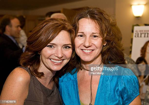 Actress Brigid Brannagh and Maria Grasso Senior Vice President Programming/Lifetime Television pose for a photo at the Lifetime Television screening...