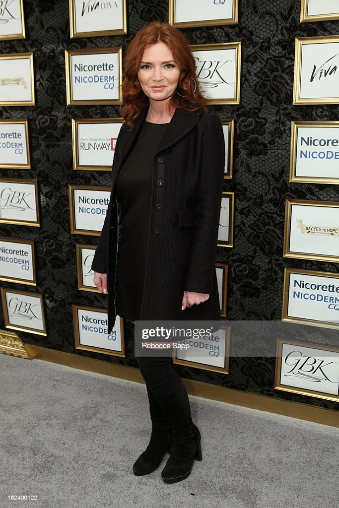 Actress <a gi-track='captionPersonalityLinkClicked' href=/galleries/search?phrase=Brigid+Brannagh&family=editorial&specificpeople=2303713 ng-click='$event.stopPropagation()'>Brigid Brannagh</a> at GBK's Oscars Gift Lounge 2013 - Day 1 at Sofitel Hotel on February 22, 2013 in Los Angeles, California.
