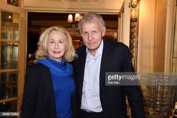 Actress Brigitte Fossey and Patrick Poivre d'Arvor attend 'Journees du Livre et du Vin 2017' Jury Deliberation Lunch at Le Procope on March 27 2017...