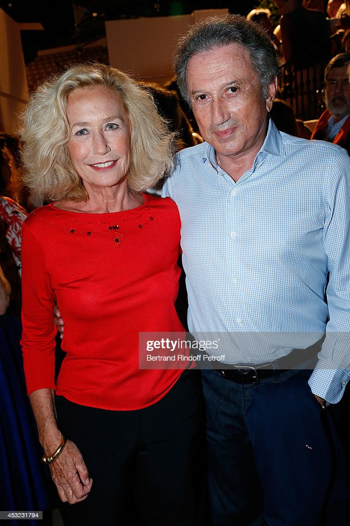 Actress Brigitte Fossey and TV presenter Michel Drucker attend the 30th Ramatuelle Festival Day 5 on August 5 2014 in Ramatuelle France