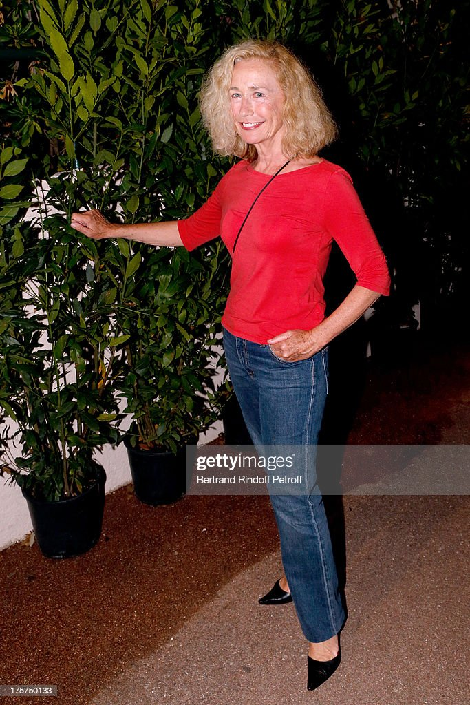 Actress Brigitte Fossey attends Concert of Juliette Greco at 29th Ramatuelle Festival Day 8 on August 7 2013 in Ramatuelle France