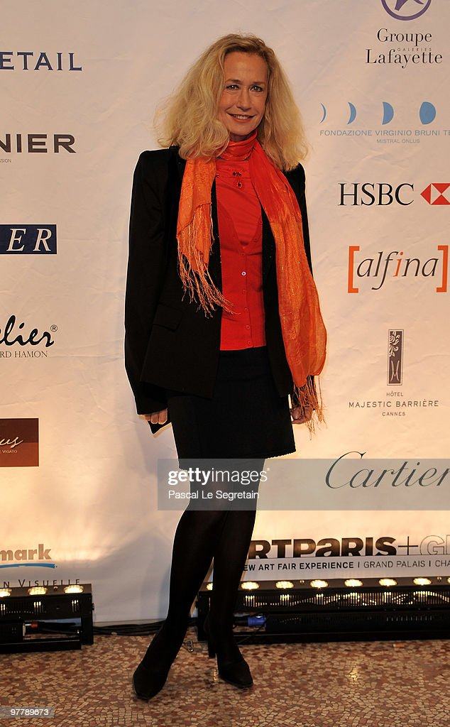 Actress Brigitte Fossey attends the Association Dessine l'Espoir charity dinner during the Art Paris Exhibition Launch at Grand Palais on March 16...