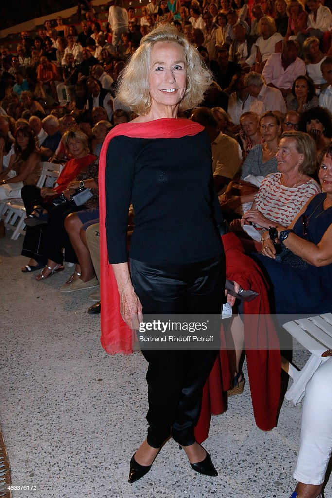 Actress Brigitte Fossey attends the 'La colere du Tigre' Theater play during the 31th Ramatuelle Festival Day 6 on August 6 2015 in Ramatuelle France