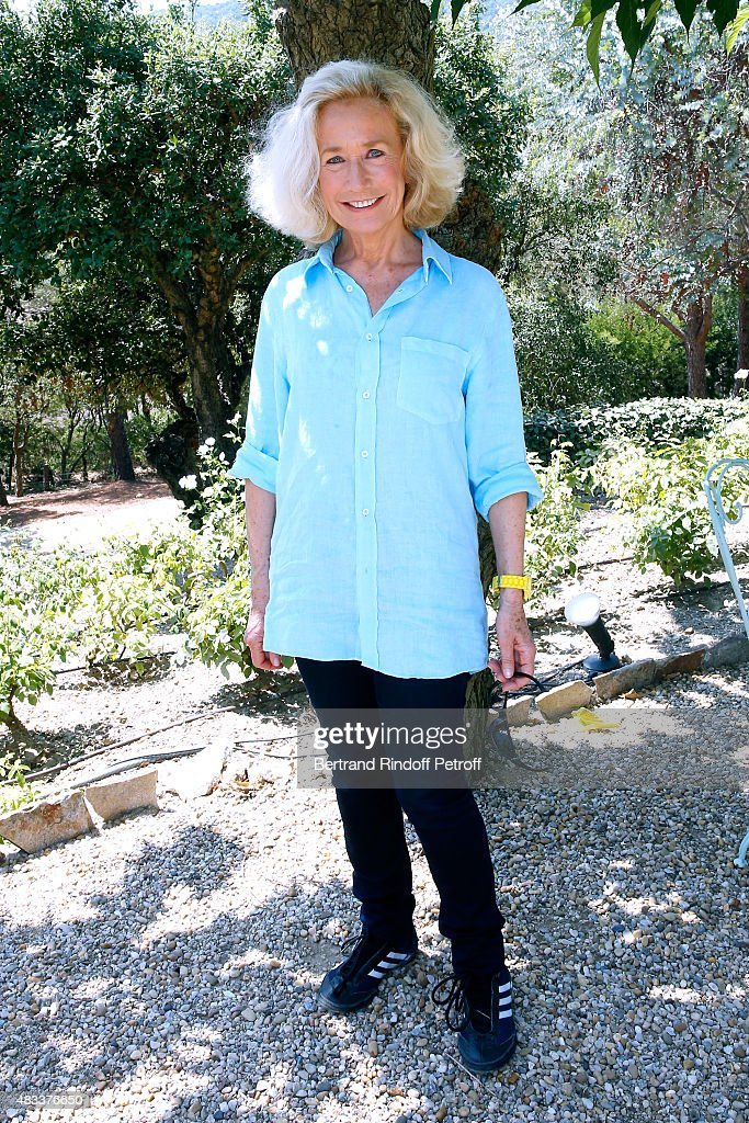 Actress Brigitte Fossey attends the lunch at Jacqueline Franjou's house as part of the 31th Ramatuelle Festival in Ramatuelle on August 7 2015 in...