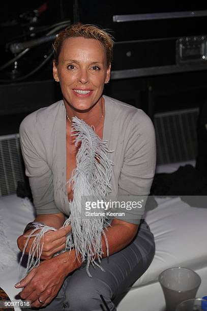 Actress Brigitte Nielsen attends Family Guy's PreEmmy Celebration at Avalon on September 18 2009 in Hollywood California