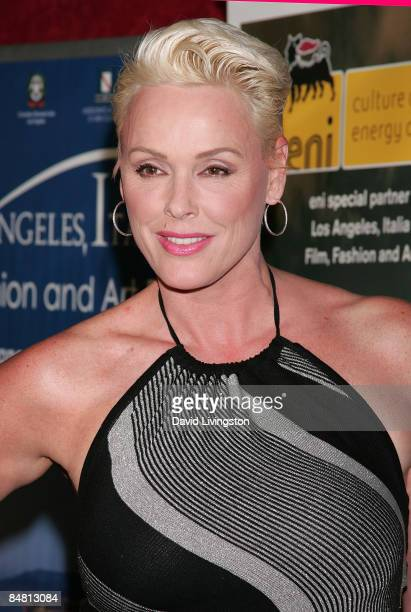Actress Brigitte Nielsen attends the 4th annual Los Angeles Italia Film Fashion and Art Festival's opening night at Mann's Chinese 6 on February 15...