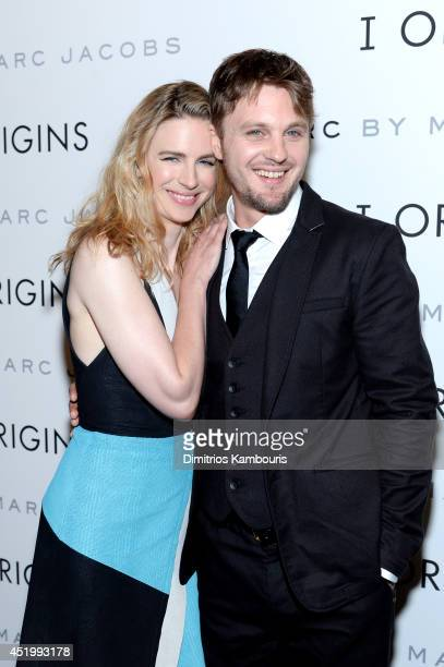 Actress Brit Marling and Actor Michael Pitt attend the 'I Origins' screening at Sunshine Landmark on July 10 2014 in New York City