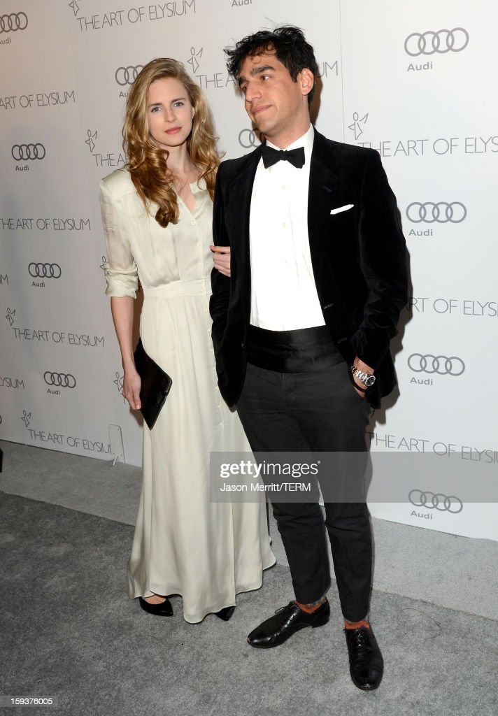 Actress Brit Marling (L) and director Zal Batmanglij attend The Art of Elysium's 6th Annual HEAVEN Gala presented by Audi at 2nd Street Tunnel on January 12, 2013 in Los Angeles, California.