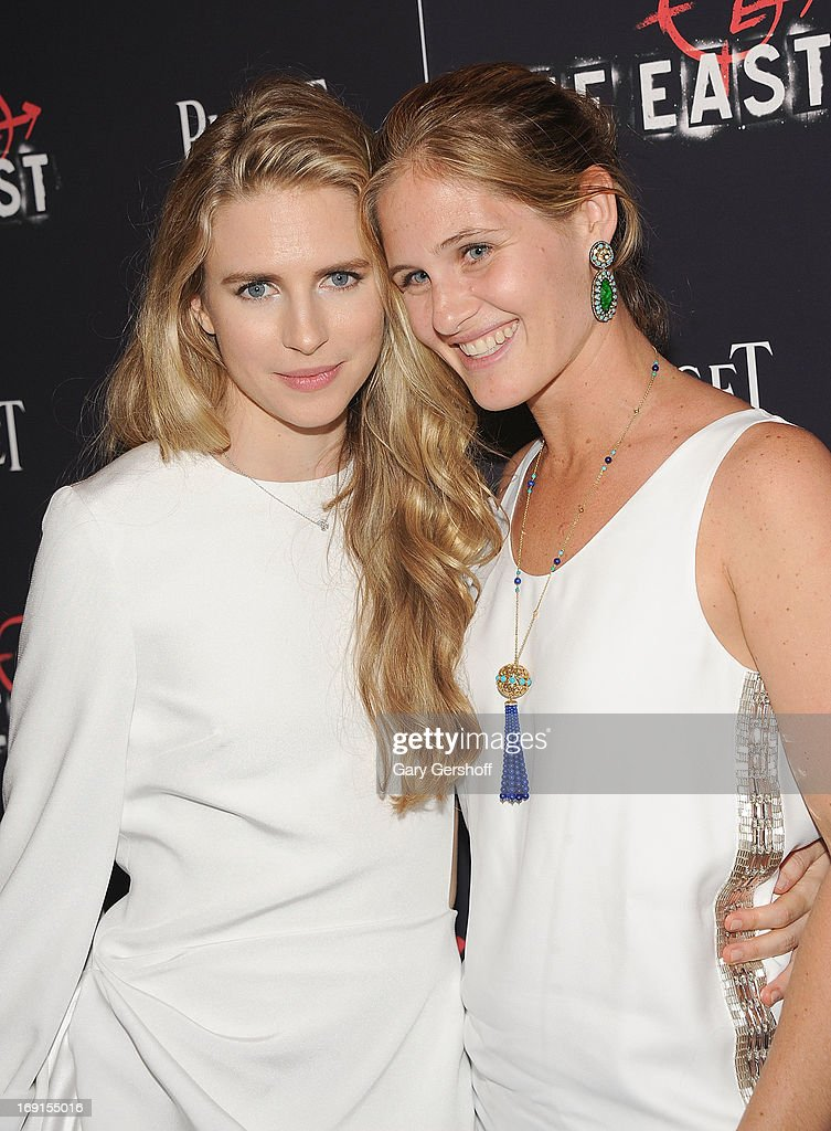 Actress <a gi-track='captionPersonalityLinkClicked' href=/galleries/search?phrase=Brit+Marling&family=editorial&specificpeople=701867 ng-click='$event.stopPropagation()'>Brit Marling</a> (L) and Jane Bloomingdale attend 'The East' premiere at Landmark's Sunshine Cinema on May 20, 2013 in New York City.