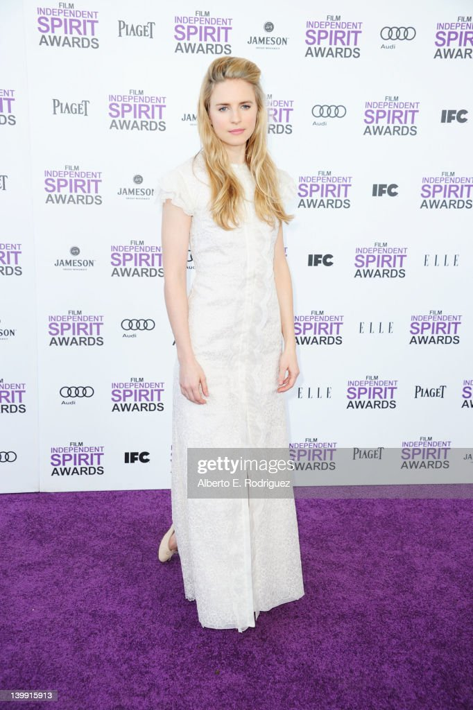 Actress <a gi-track='captionPersonalityLinkClicked' href=/galleries/search?phrase=Brit+Marling&family=editorial&specificpeople=701867 ng-click='$event.stopPropagation()'>Brit Marling</a> arrives at the 2012 Film Independent Spirit Awards on February 25, 2012 in Santa Monica, California.