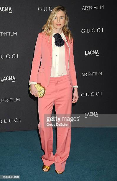 Actress Brit Marling arrives at the LACMA 2015 ArtFilm Gala Honoring James Turrell And Alejandro G Inarritu Presented By Gucci at LACMA on November 7...