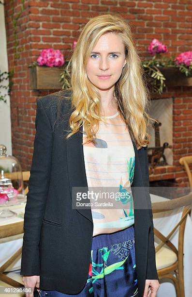 Actress Brit Marling attends Lynn Hirschberg Celebrates W's It Girls with Piaget and Dom Perignon at AOC on January 10 2015 in Los Angeles California